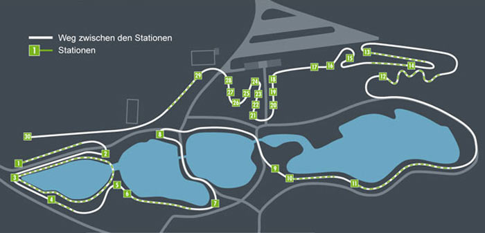 Übersichtsplan von den Stationen im Motorikpark