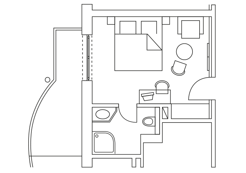 Doppelzimmer-Gartenblick-klassik