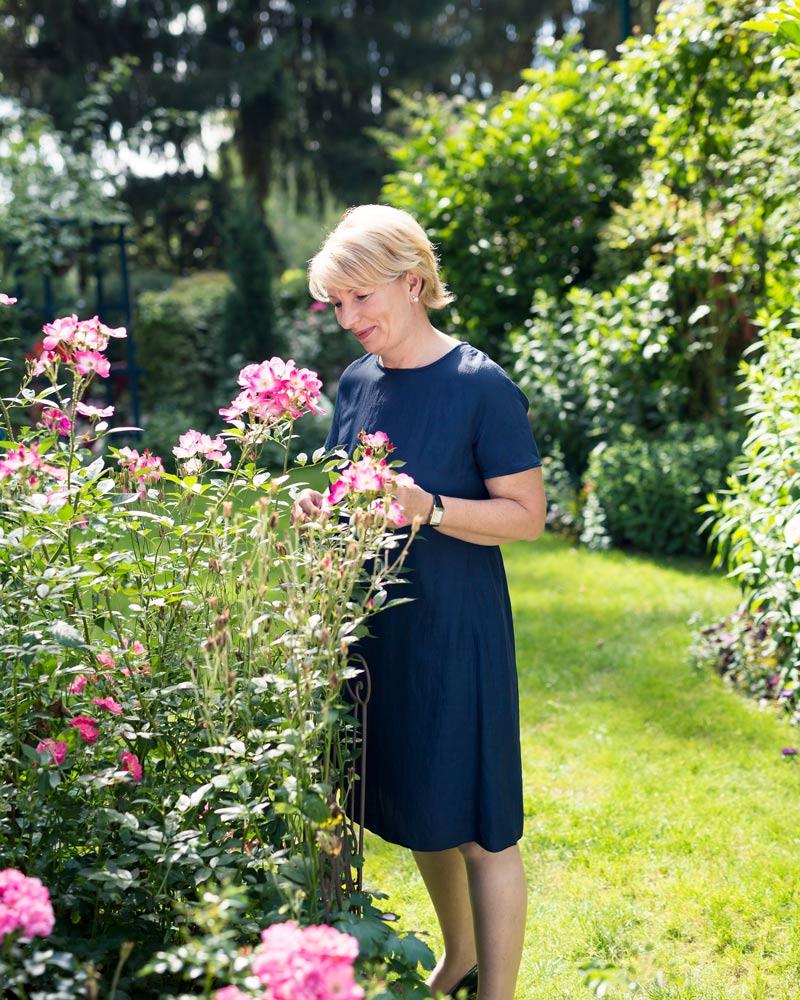 Rosengarten betreut von Rosa Wratschko