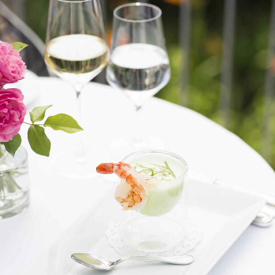 Sommergericht im Restaurant Weinlandhof